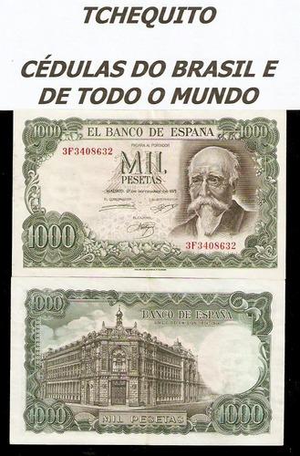 espanha 1000 pesetas 1971 p. 154 s/fe cédula - tchequito