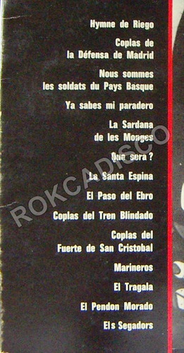 españoles, chants de la guerre d´espagne, lp 12´,