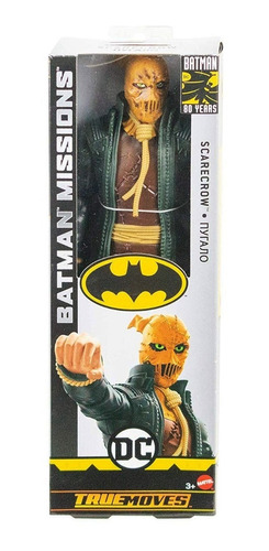 espantapájaros scarecrow 29cm batman missions mattel gck89