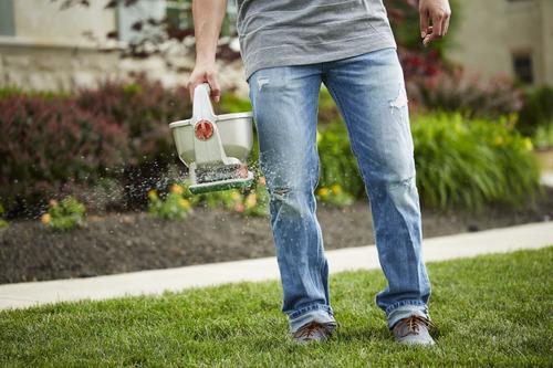 esparcidor fertilizante semillas manual scotts wizz