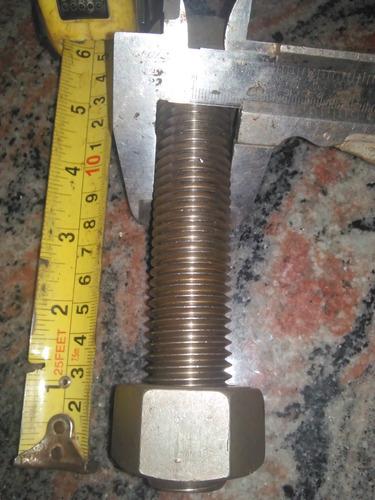 esparrago 1 pulg - 5 7/8 pulg acero inoxidable 317l 2 tuerca