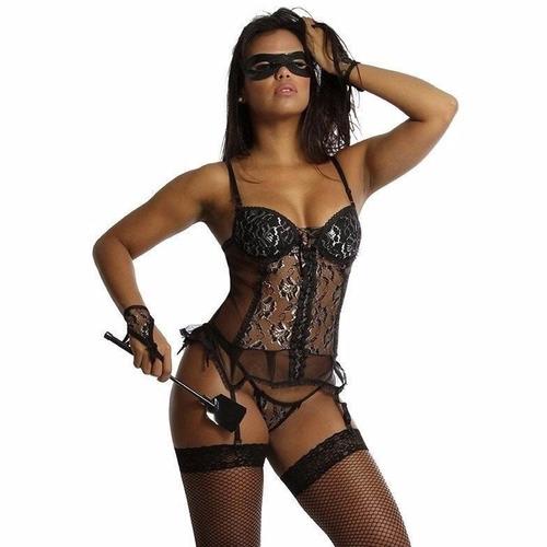 espartillho llngerie atacado  kit com 3 fantasias eroticas