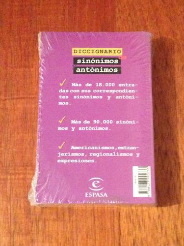 espasa. diccionario sinonimos y antonimos .