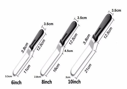 espátula de ángulo 11cms - espátula respostería