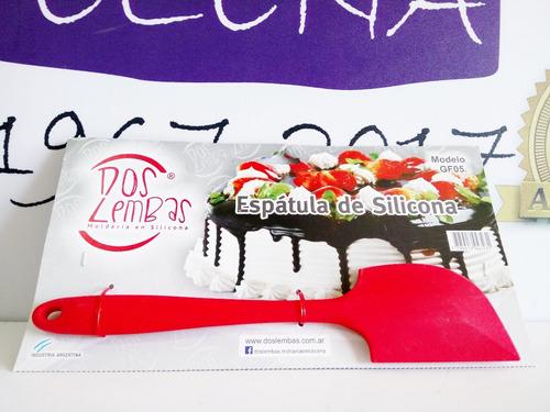 espátula de silicona profesional p/ altas temperaturas 28 cm