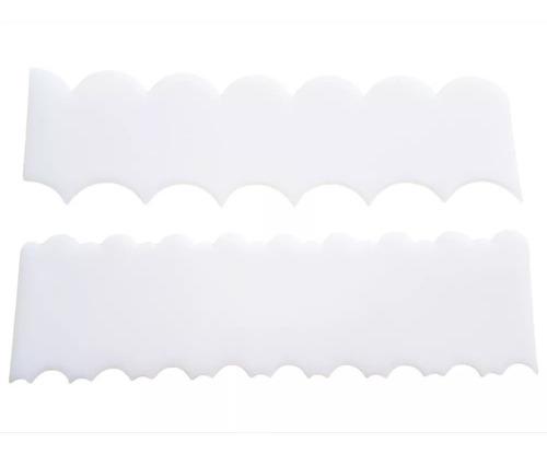 espátula decorativa para lateral de bolo com 2 peças ef
