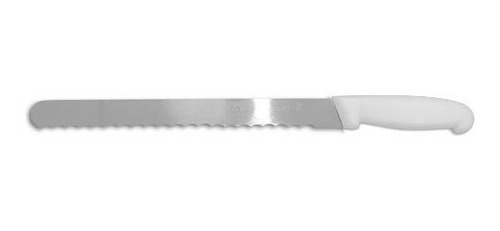 espátula lisa para bolo 35cm + faca fio ondulado 35cm inox