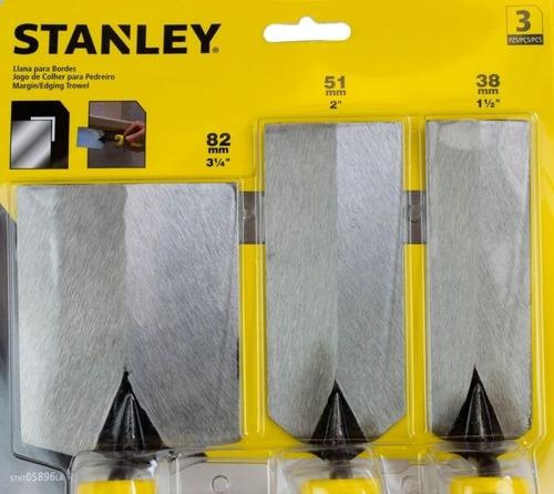 espátula p/ drywall em aço inox 3 peças stanley stht05896