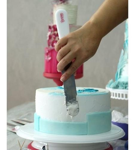 espátula pastelera de alisado con escalón - 15 cm parpen