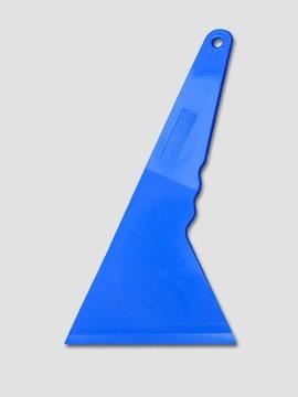 espatula plastica azul larga vinil papel ahumado