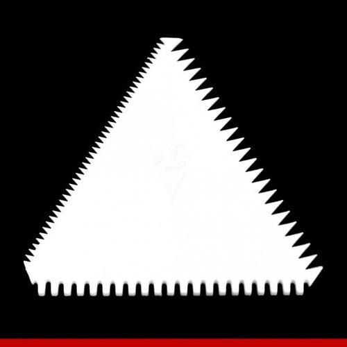 espátula triângulo decorativa serrilhada
