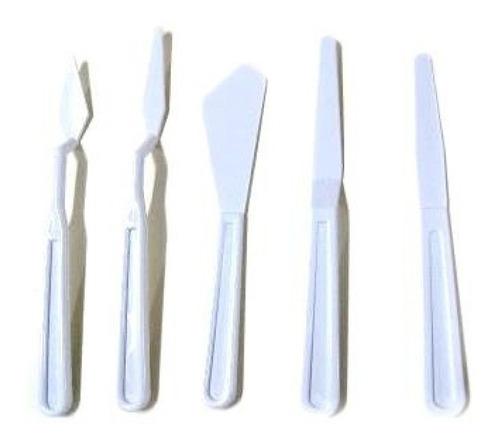 espátulas de plástico. set x5