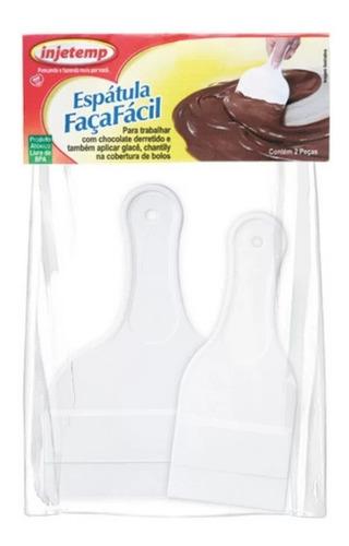espátulas para confeitar plástico kit com 2 unidades