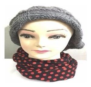 especial bufanda cuello le sak puntos negro y rojo
