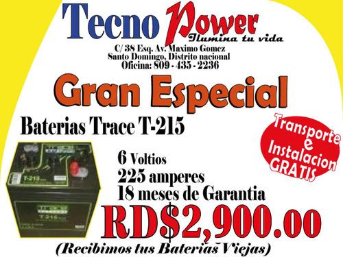 especial de baterias trace para inversor (pri)* 809-435-2236
