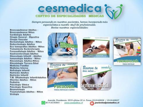 especialidades médicas. agendar horas al 232460636-232460637