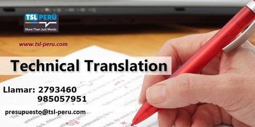 especialista en traducción técnica 985057951 lima-callao