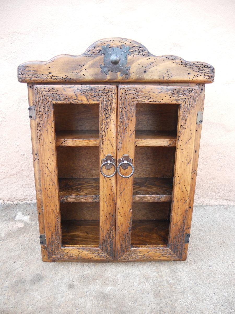 Especiero r stico madera de pino apolillada excelente - Muebles de madera rusticos para cocina ...