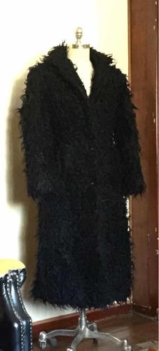 espectacular abrigo piel sintética de exclusivo diseño