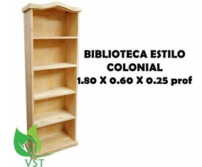 0 Espectacular 60x0 80 Tigre 25x1 Pino Biblioteca Colonial RqS5c43AjL