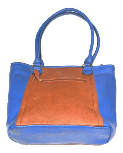 espectacular bolso cartera ejecutiva dama le sak azul rey