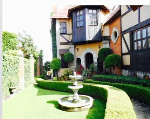espectacular casa estilo inglés en magnolias, bosques de las lomas