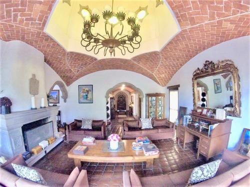 espectacular casa estilo mexicano en venta en club de golf méxico, tlalpan