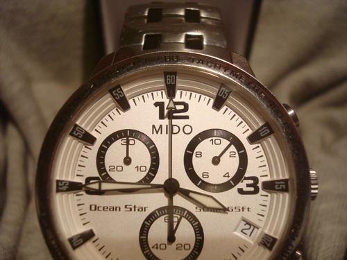 espectacular cronografo mido ocean star poco uso impecable!!