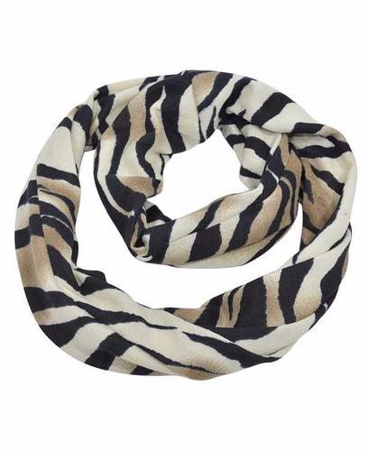 espectacular cuello bufanda le sak animal print zebra rayas
