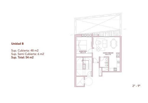 espectacular departamento 2 ambientes en palermo - excelentes terminaciones - en construcción