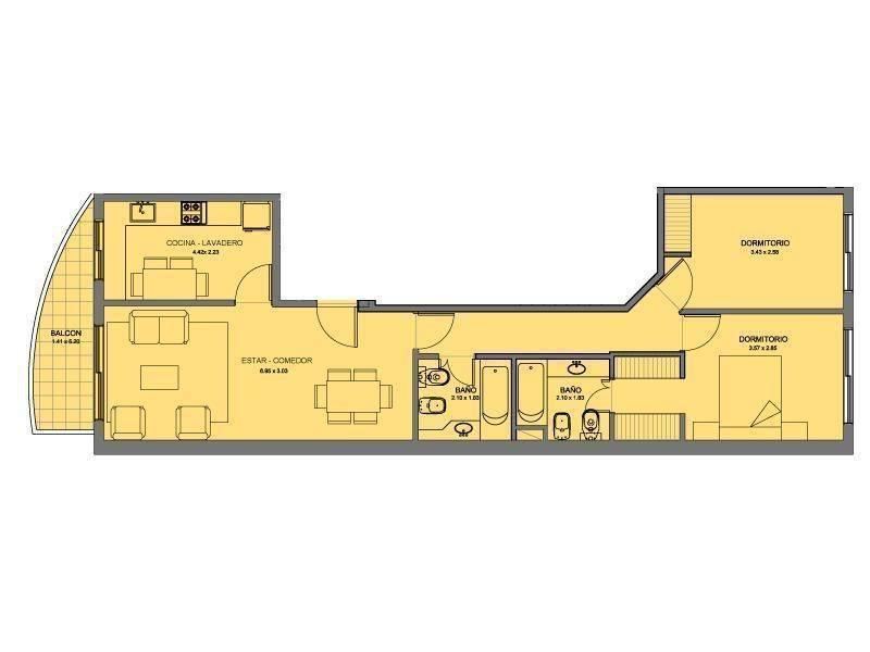 espectacular departamento 3 ambientes con cochera y baulera - amenties