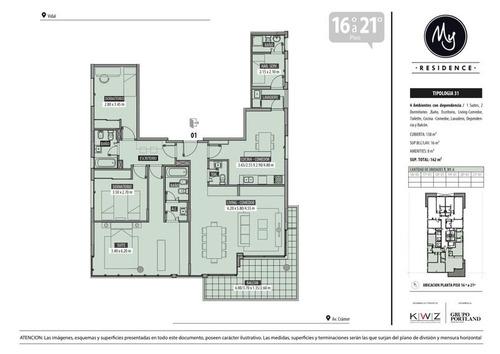 espectacular departamento de 4 ambientes con dependencia en belgrano de categoría premium