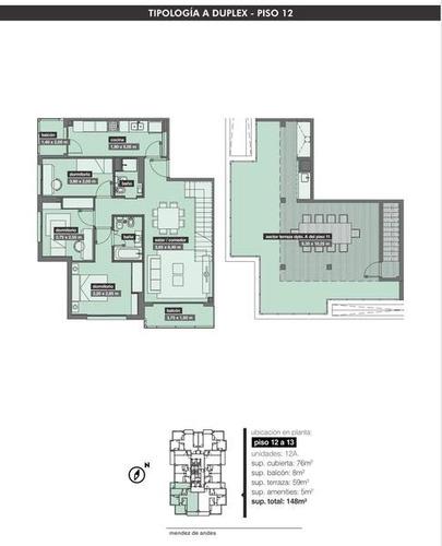 espectacular departamento en duplex de 4 ambientes en torre de categoría terraza propia