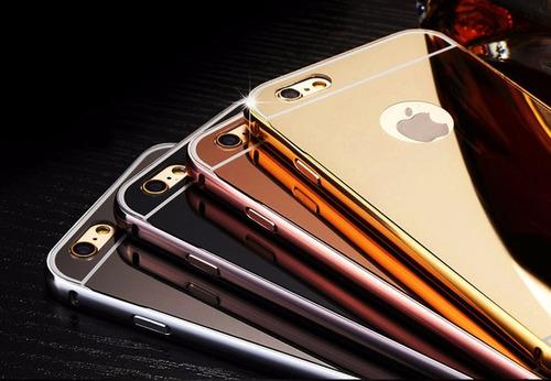 espectacular estuche de lujo tipo espejo gold iphone 6/6s