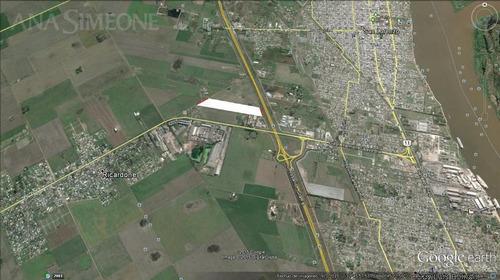 espectacular fracción de 14 ha, con frente sobre la autopista rosario - santa fe
