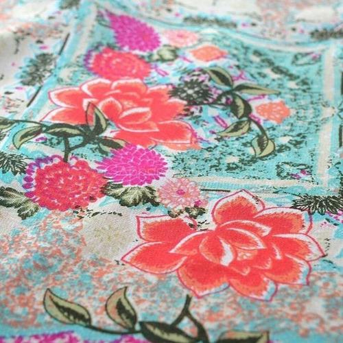 espectacular kimono en chiffón estampado (ref 1113)