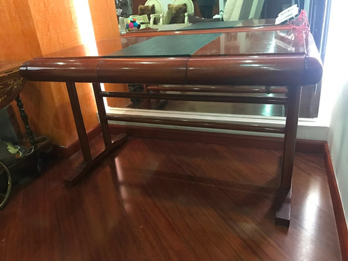 espectacular mueble escritorio madera de quebracho estudio