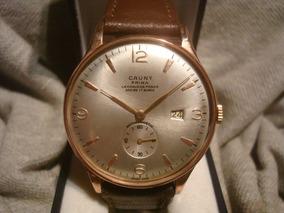 b3caabf0f518 Espectacular Reloj Cauny Prima '50 Oro Plaque18k Impecable!!