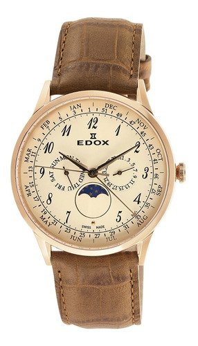 espectacular reloj edox les vauberts 40101 37rc bebr nuevo