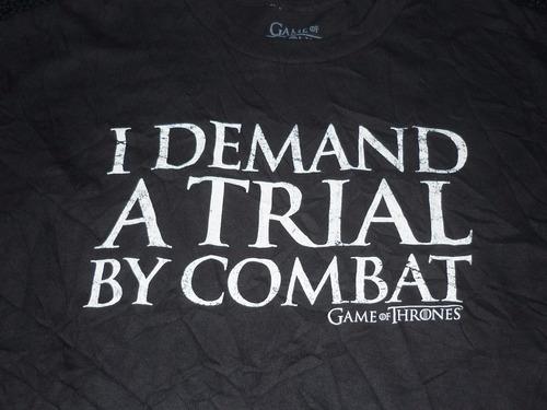 espectacular!! remera m/c orig. game of thrones black l