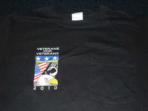 espectacular!! remera m/c orig. pow mia - veterans for vet