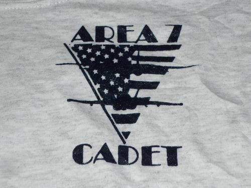 espectacular!! remera orig. us navy- area 7 cadet nrotc l