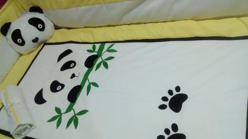 espectacular set de cuna o corral osos panda