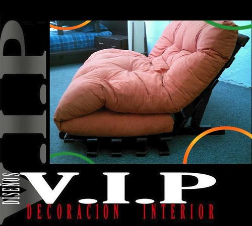 espectacular sofá cama futon