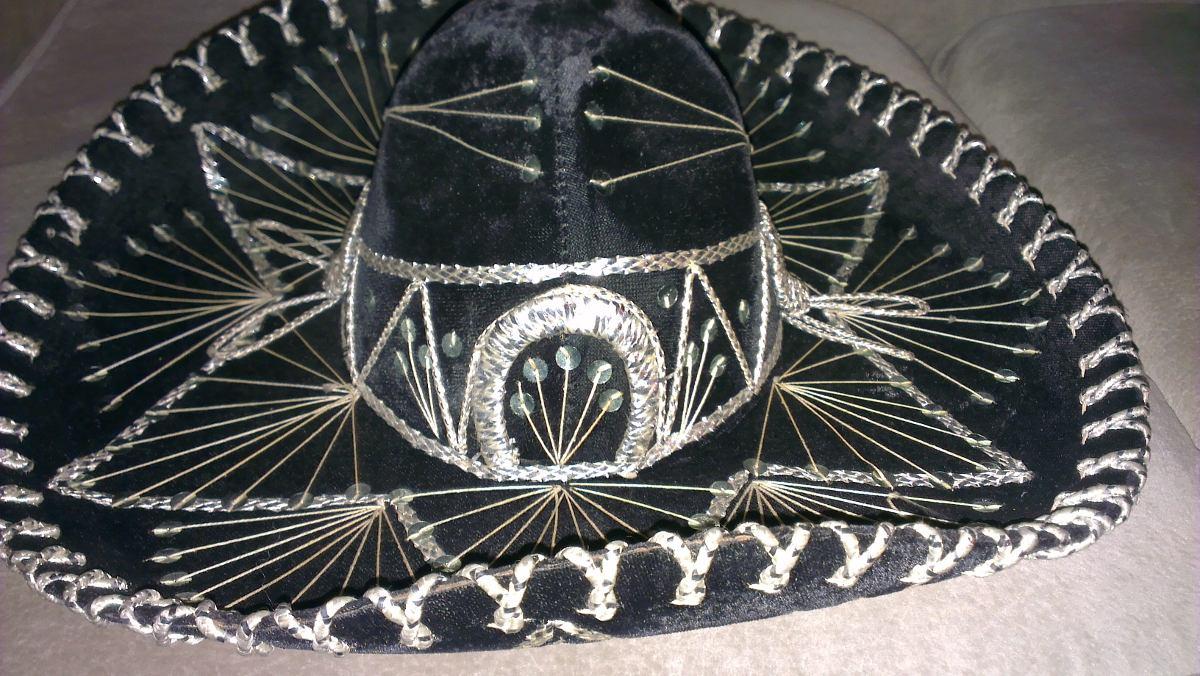 espectacular sombrero mexicano estilo mariachis color negro. Cargando zoom. b2da9eb0ede