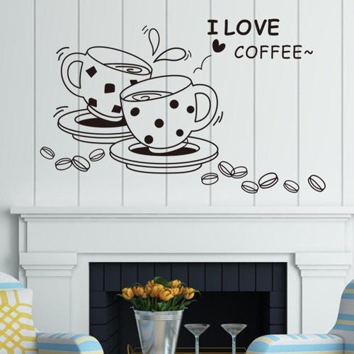 espectacular sticker . amo el cafe 3d.  excelente regalo