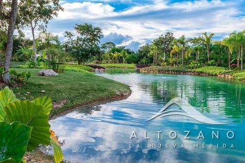 espectacular terreno en venta en privada colinda con lago, al norte de merida
