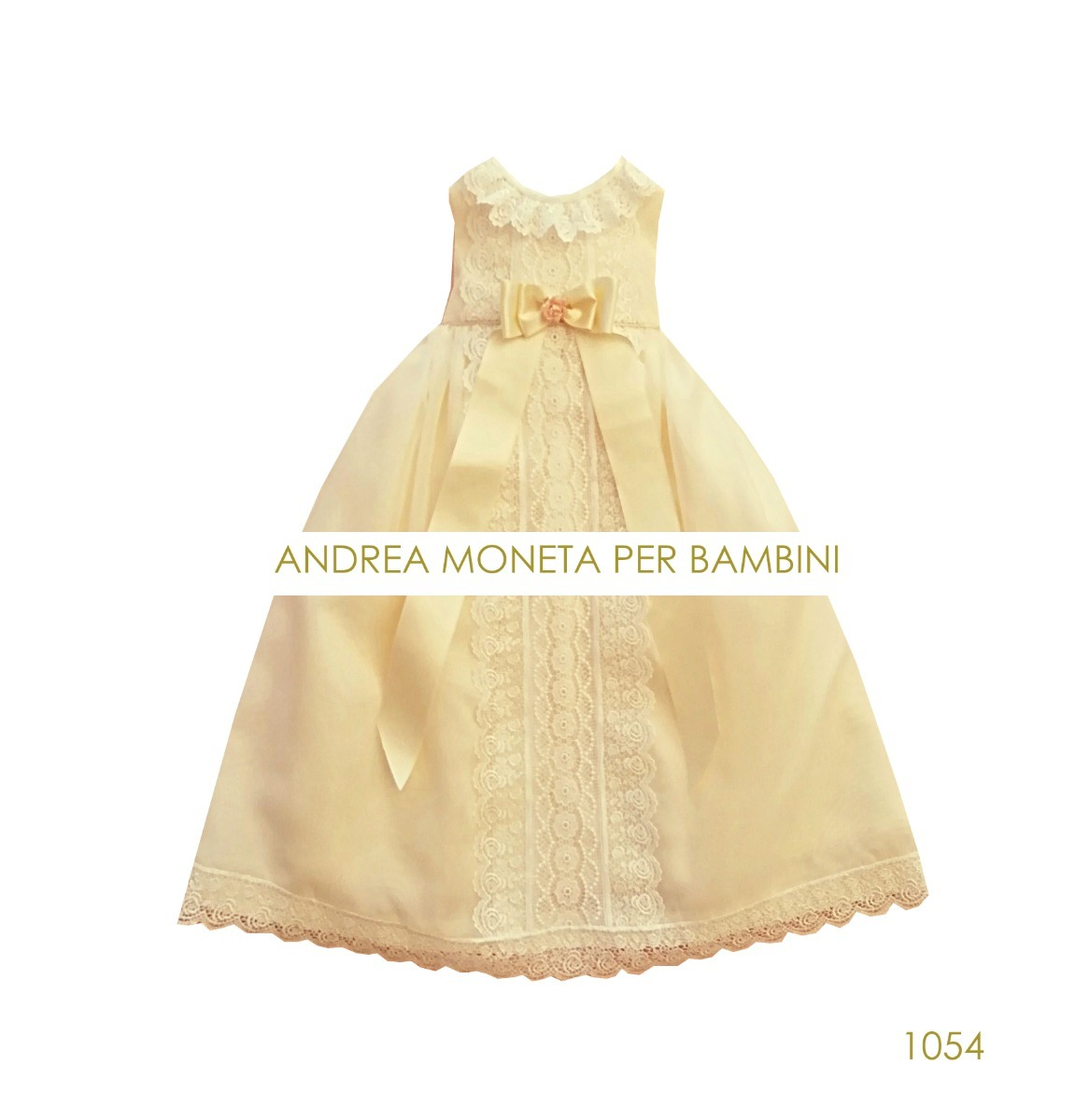344863559 espectacular vestido bautismo crema bebe andrea moneta 1054. Cargando zoom.