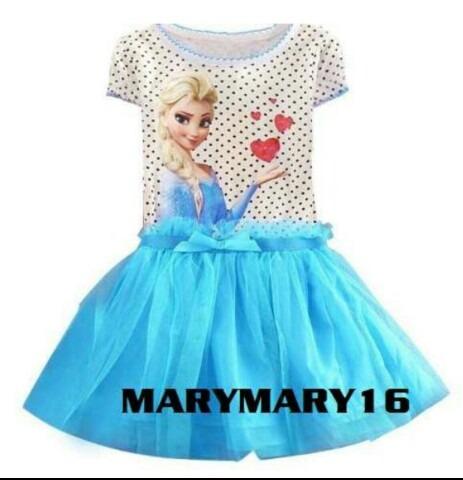 Espectacular Vestido Corto De Vestir Frozen Elsa Y Anna