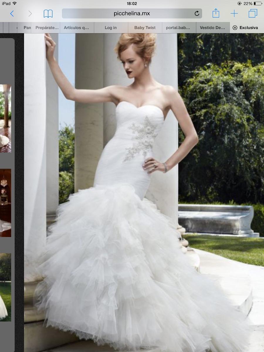 Espectacular vestido novia